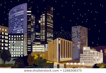 Cartoon La Defense Stock photo © blamb