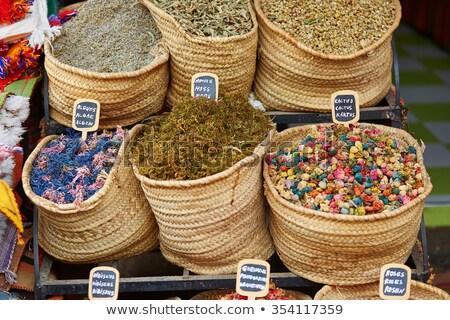 Secas cacto flores mercado Marrocos comida Foto stock © haraldmuc
