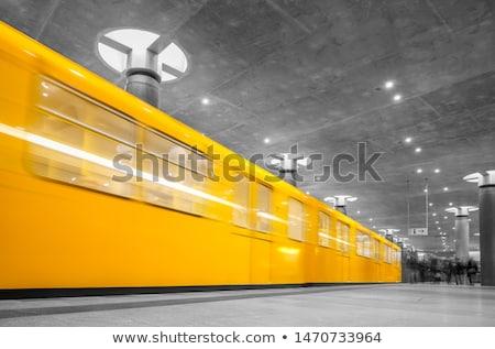 metro in berlin by night stock photo © meinzahn