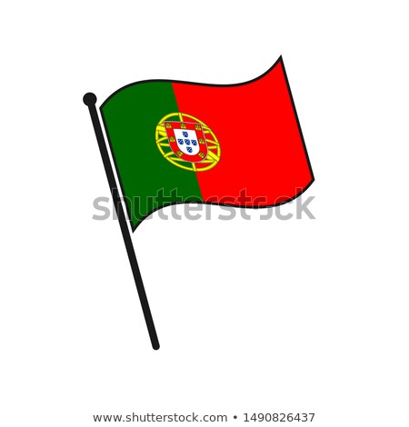 Portugal Small Flag on a Map Background. Stock photo © tashatuvango