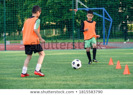 football · pratique · adultes · football · formation - photo stock © bigandt