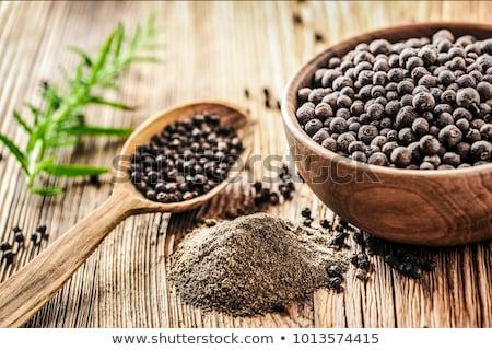 Föld feketebors közelkép textúra étel fekete Stock fotó © smuay