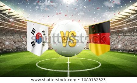 Rusland vs Zuid-Korea groep fase wedstrijd Stockfoto © smocker03