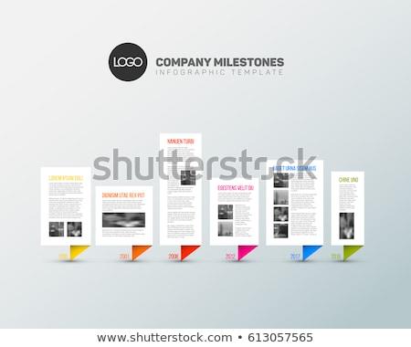 Chronologie rapport modèle fraîches couleurs Photo stock © orson