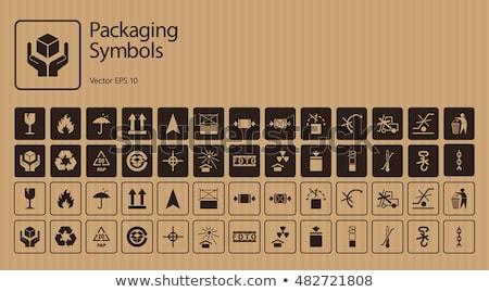 Fragile symbole carton image fond Photo stock © tiero