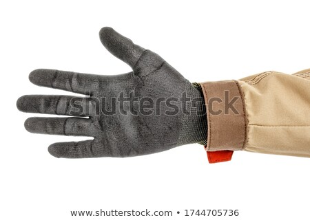 Closeup of arm - hand making number five sign. stock photo © dgilder