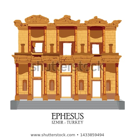 древних греческий турецкий город римской Запад Сток-фото © emirkoo