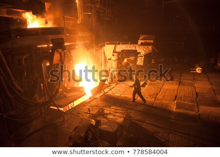 worker with hot steel Stock photo © mady70