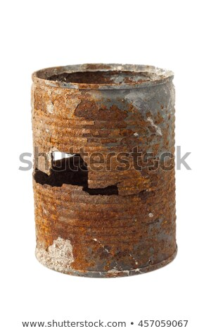 enferrujado · estanho · lata · branco · metal · ferrugem - foto stock © stryjek