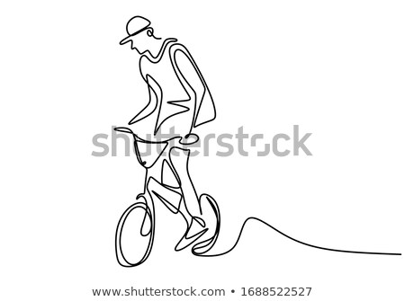 Seductive young blond on a bicycle Stock photo © dash