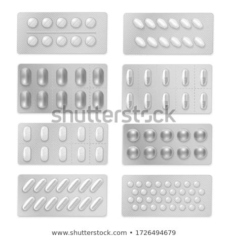 Genezen hulpmiddelen pack pillen groene Open Stockfoto © tashatuvango