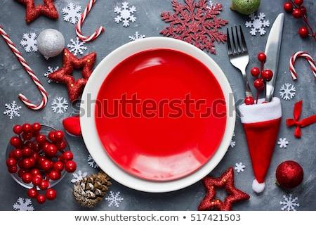 Szett karácsony ötlet karácsony terv boldog Stock fotó © kiddaikiddee