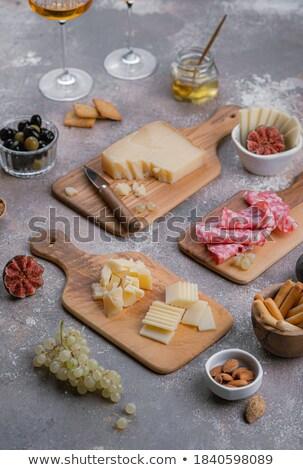 меда · виноград · сыра · продовольствие · древесины · фрукты - Сток-фото © user_8545756