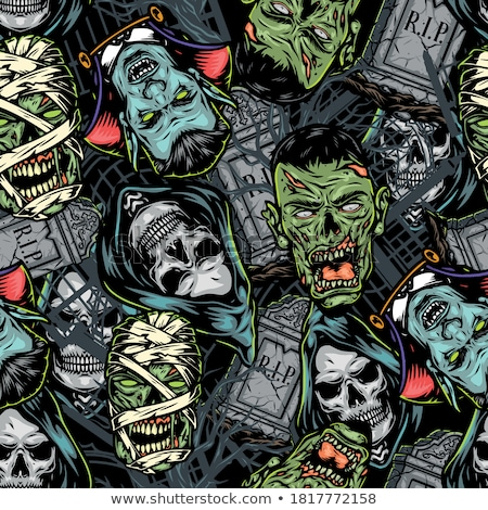 vampire seamless pattern stock photo © glorcza
