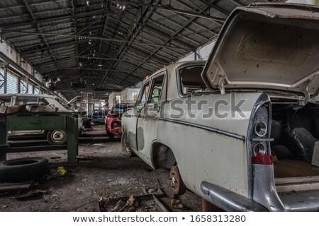 Garage antique vieux ciel été Photo stock © majdansky