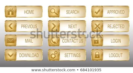 Download Square Vector Gold Button Stock photo © rizwanali3d