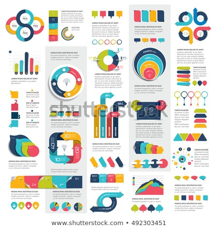 infographic elements circles and squares stock photo © anna_leni