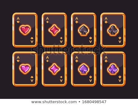 Szett drágakövek különböző szín esküvő gyémánt Stock fotó © zybr78