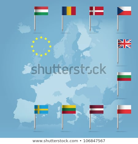 Vlag pin Letland geïsoleerd witte Stockfoto © MikhailMishchenko