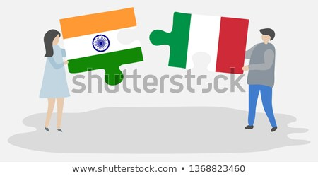 india and italy flags in puzzle stock photo © istanbul2009