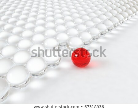 Part of glass red balls  Stock photo © bonathos