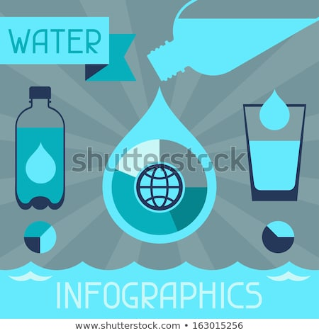 Water infographics. Information Graphics. Vector illustration Stock photo © jiunnn