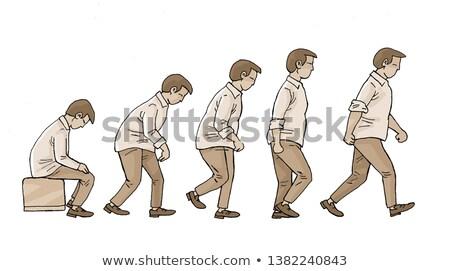 Business man crouch walk Stock photo © fuzzbones0