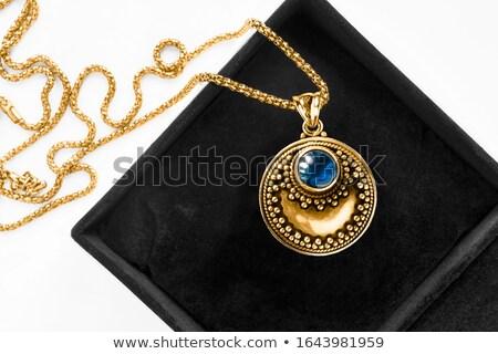 Or noir simulée perles Photo stock © vtls
