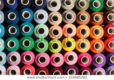 Közelkép cséve szövet asztal fotózás Stock fotó © imagedb