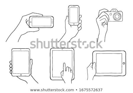 Scherm camera schets icon web mobiele Stockfoto © RAStudio