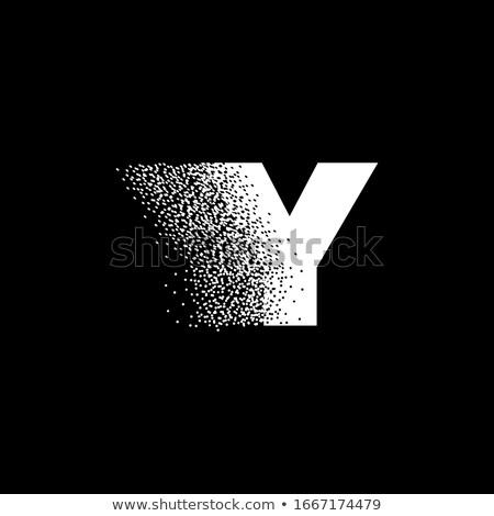 アルファベット 粒子 ロゴタイプ 手紙 ロゴ ベクトル ストックフォト © netkov1