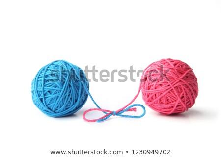 Blue thread ball isolated on white Stock photo © tetkoren