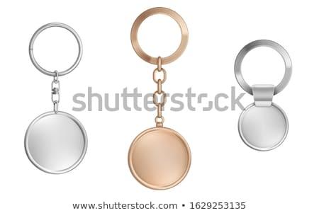 Metal gümüş zincir yalıtılmış beyaz arka plan Stok fotoğraf © kirs-ua