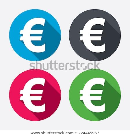 euro sign pink vector button icon stock photo © rizwanali3d