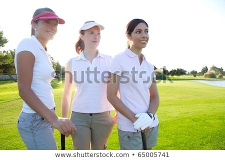 golf · üç · kadın · yeşil · ot · doğa - stok fotoğraf © lunamarina