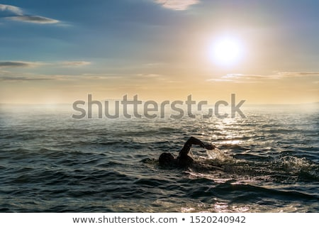 Open water swimming Stock photo © fotoedu