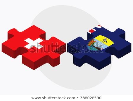 Швейцария святой флагами головоломки изолированный белый Сток-фото © Istanbul2009