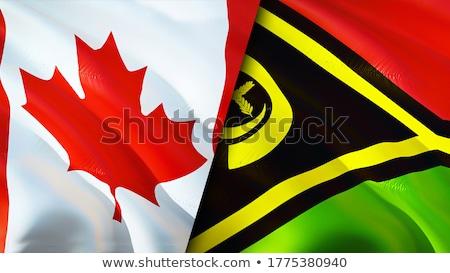 Canadá Vanuatu bandeiras quebra-cabeça isolado branco Foto stock © Istanbul2009