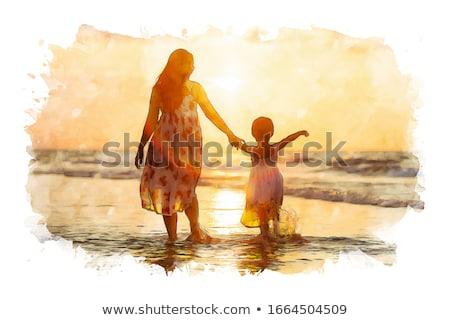 matka · córka · morza · wody · baby · szczęśliwy - zdjęcia stock © Paha_L