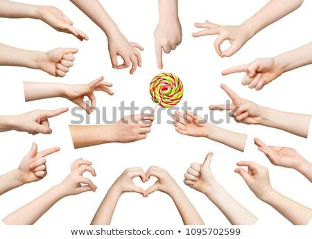 kind · hand · stickers · helpen · witte · vinger - stockfoto © Paha_L