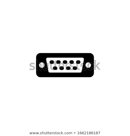 VGA input cable  connector on white background Stock photo © stoonn