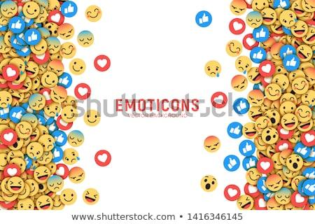 Smiley emoticons, emoji, social media concept Stock photo © ikopylov