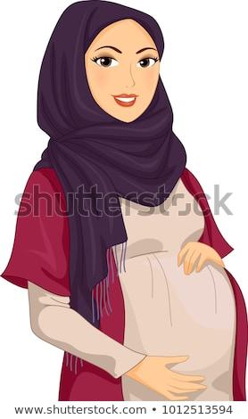 Müslüman kız yüz güzellik genç Stok fotoğraf © zurijeta
