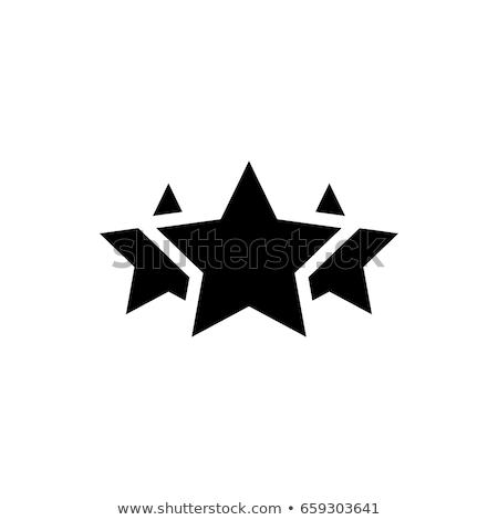 Três estrelas natal decoração ouro branco Foto stock © funix