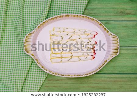 белый спаржа скатерть здоровья Сток-фото © Zerbor