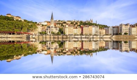 Panoramic view of Saone river Stock photo © vwalakte