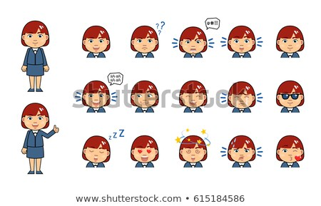 businesswoman with emoticon stock photo © diego_cervo