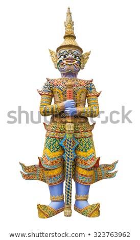 гигант азиатских демон вход храма Пхукет Сток-фото © timbrk