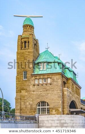 part of the famous Landungsbruecken in Hamburg  Stock photo © meinzahn