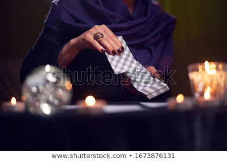 fortunetelling with tarot cards stock photo © neirfy